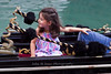 Little girl enjoying gondola ride, Venice, Italy