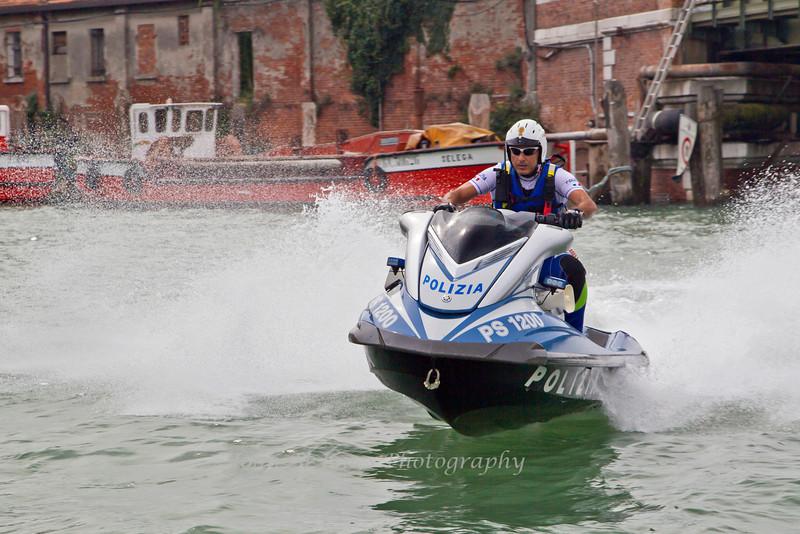 Speeding Polizia, Venice, Italy