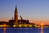 Church of San Giorgio Maggiore in the evening, Venice, Italy