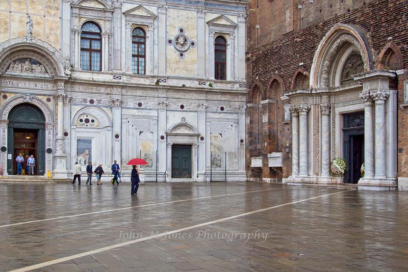 Rainy day, Campo San Giovanni e Paolo, Venice, Italy