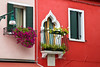 Colorful houses in Burano, Venetian lagoon, Italy
