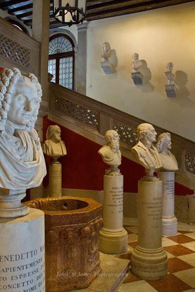Statues at the Institute for Science, Letters, and Arts in Venice, Italy