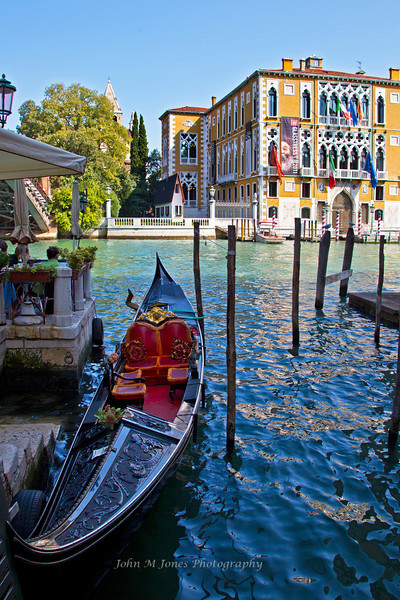 Scene near Accademia Bridge on the Grand Canal, Venice, Italy