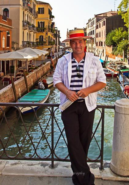 Gondolier, Venice, Italy
