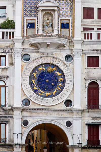 Torre dell'Orologio - St Mark's Clock Tower, Piazza San Marco or St. Mark's Square, Venice, Italy