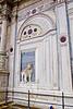Sculpted trompe l'œil perspectives on façade of Scuola Grande di San Marco hospital, Venice, Italy