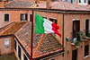 National Flag of Italy, Venice, Italy