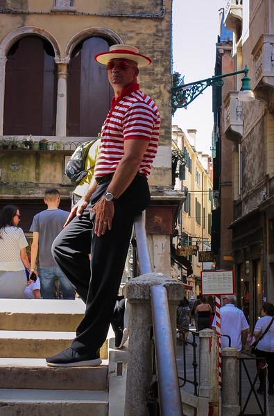 Venetian gondolier.