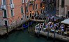 Cafe on the Grand Canal, taken at dusk from one of only 2 bridges that span it.