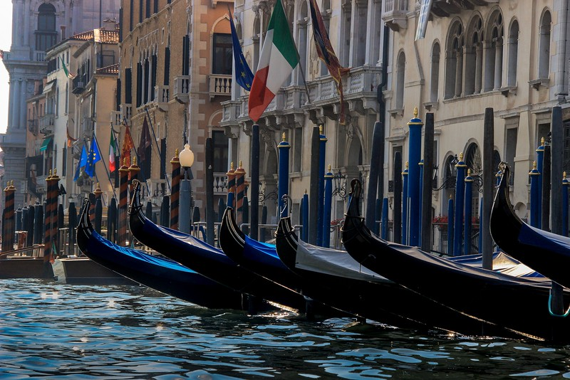 Gondola staging area.