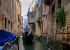 Narrow canal section of our gondola ride.