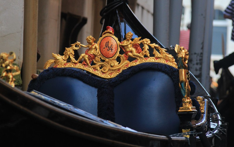Gondolas with the heaviest ornamentation are often used for ceremonial events.