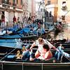 Gondola boats in Venice, Italy.