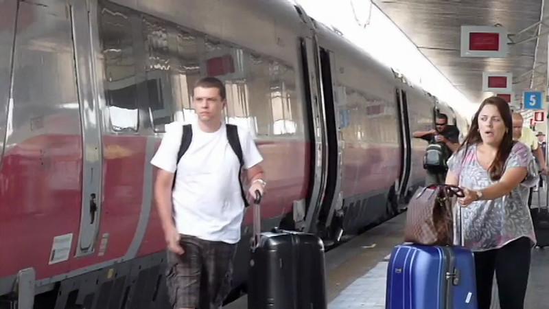 The Santa Lucia Train Station in Venice, Italy.