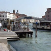 A view in front of Santa Lucia train station along the canal in Venice, Italy.