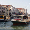 Water bus cruising the Grand Canal in Venice, Italy.