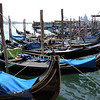 Gondola boats in Venice.
