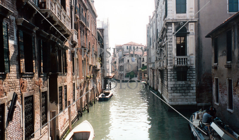 View of the canals in Venice, Italy.
