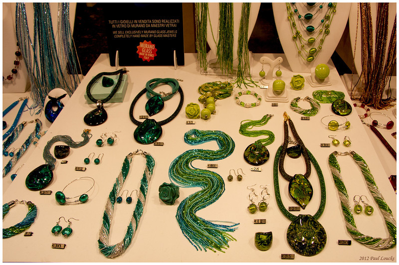 A shop focusing on Murano glass jewelry.