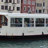A view of the dock station in front of Santa Lucia train station along the canal in Venice, Italy.