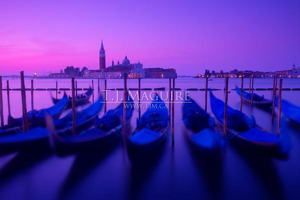Dancing Gondolas, Venice, Italy