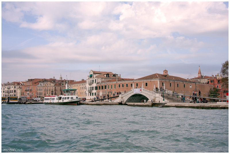 Major bridge along the Rive d Schiavone. We were walking toward San Marco Square and the Calle Dei Fabbri.