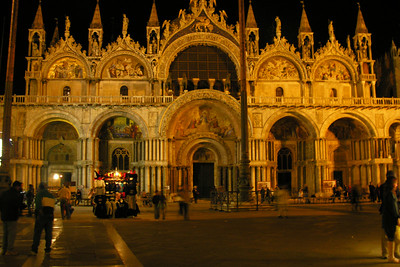 St. Marks Basilica in the evening