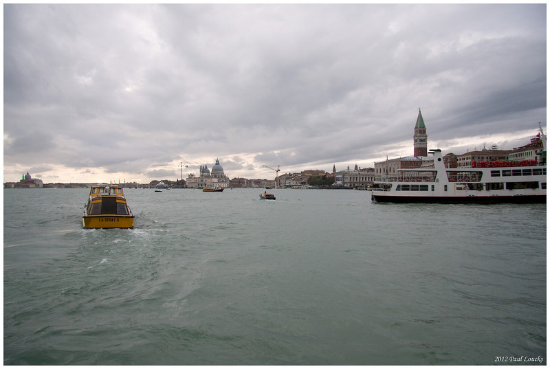We traveled by water taxi from the Venice airport and were put ashore along the Canal di San Marco. Our luggage went by gondola to our neat little hotel on the Calle Dei Fabbra between San Marco Square and the Rialto Bridge (appoximately).