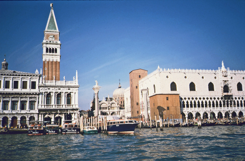 St. Mark's Square from the water taxi from the airport.