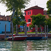 colorful houses on Murano