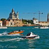 Busy main waterway in Venice