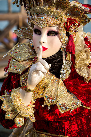 Pssst! I am a queen, Venetian carnival 2014, Venice, Italy