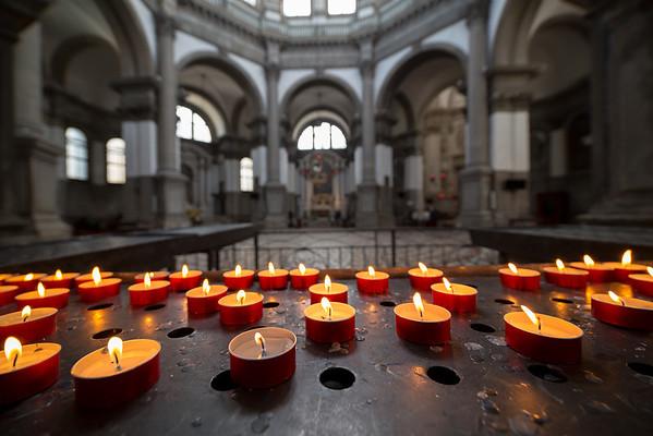 Interior of Basilica di Santa Maria della Salute, Venice, Italy