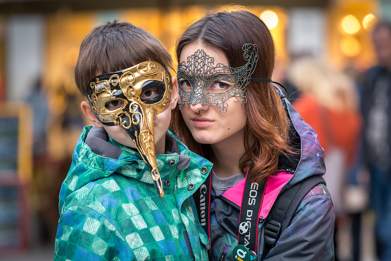 Unforgettable lovely moments on Venetian carnival 2014, Venice, Italy