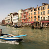 Very famous place near bridge Rialto on Grand canal, Venice, Italy