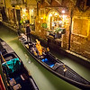 Nocturnal idyllic cruise on gondola, Venice, Italy