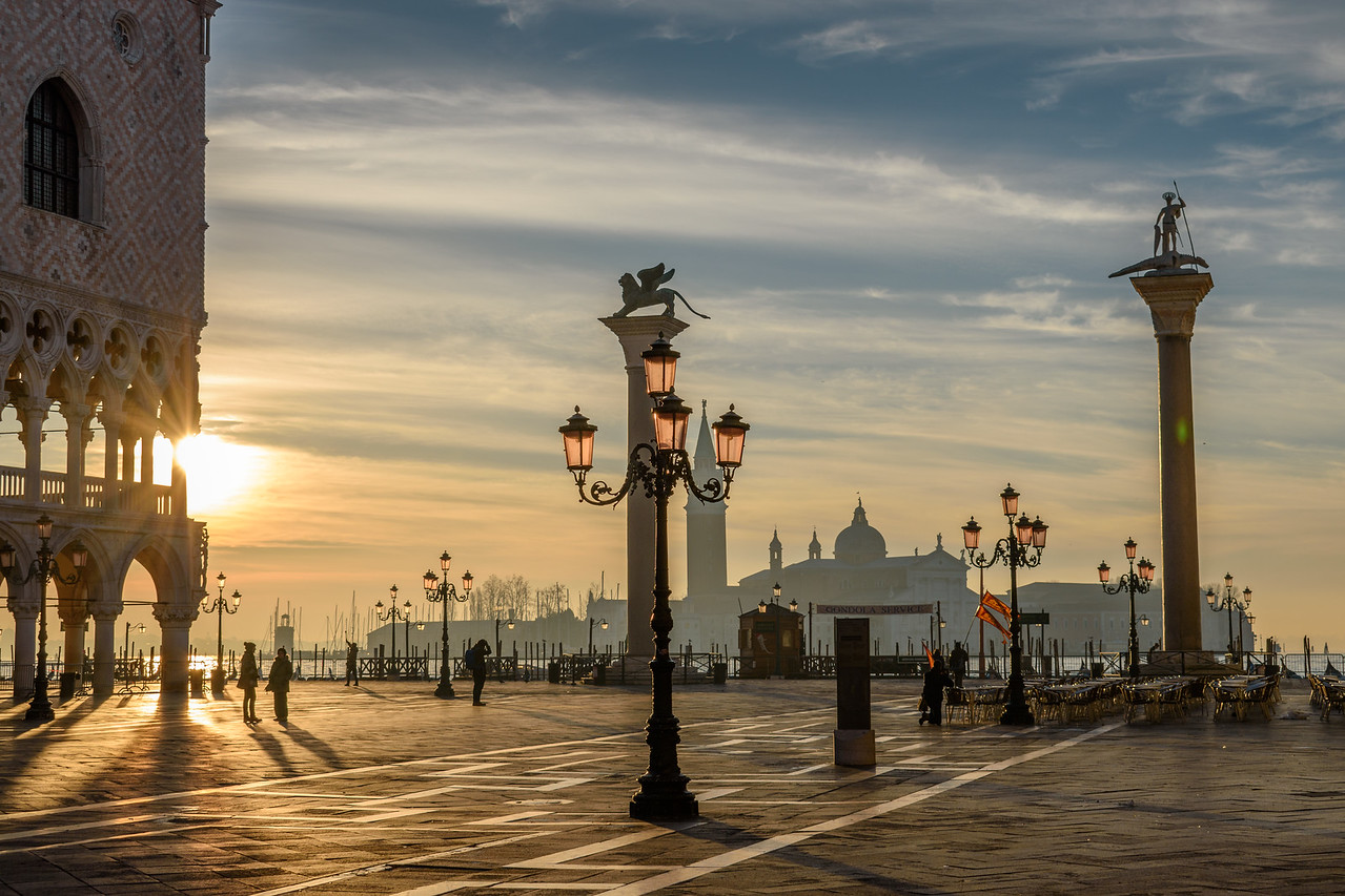 St Mark's Square, sunrise