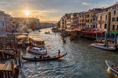 Setting sun over Grand Canal