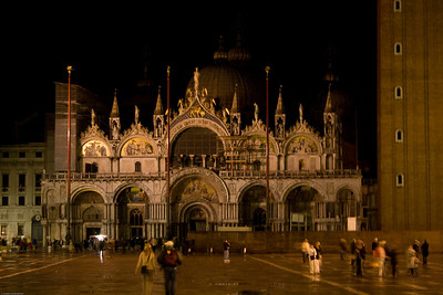 Basilica San Marco at night