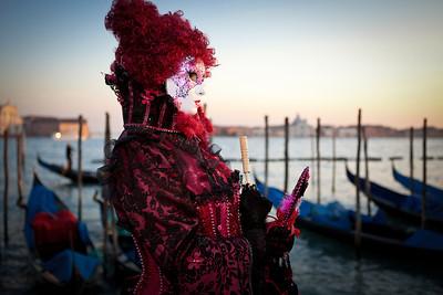 Masks on Venetian carnival, Venice, Italy (2012)