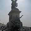 Statue on waterfront of Venice