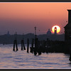 Venice at sunset, seen from Murano