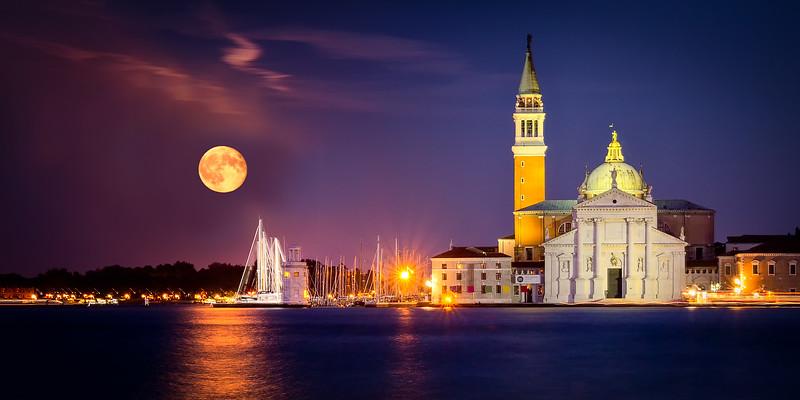 Moon over San Giorgio