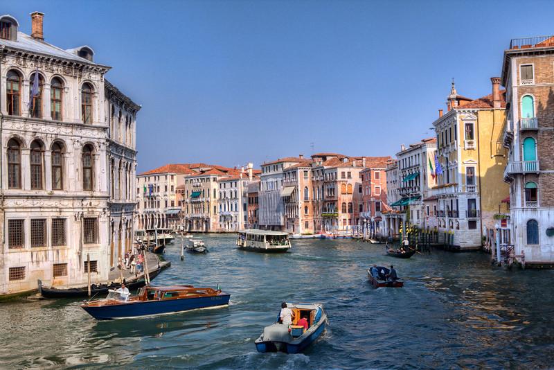 The Grand Canal from the Ponte di Rialto.