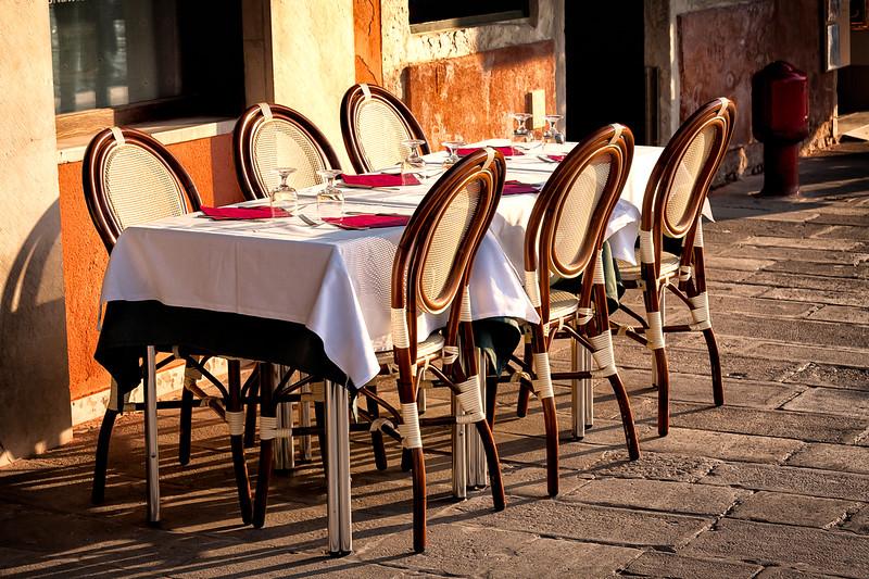 Dining in Venice