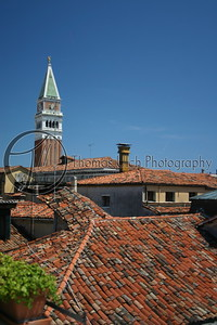 The rooftops. Venice, Italy.