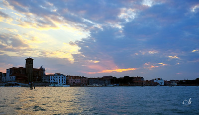 Sunset over northern Venice