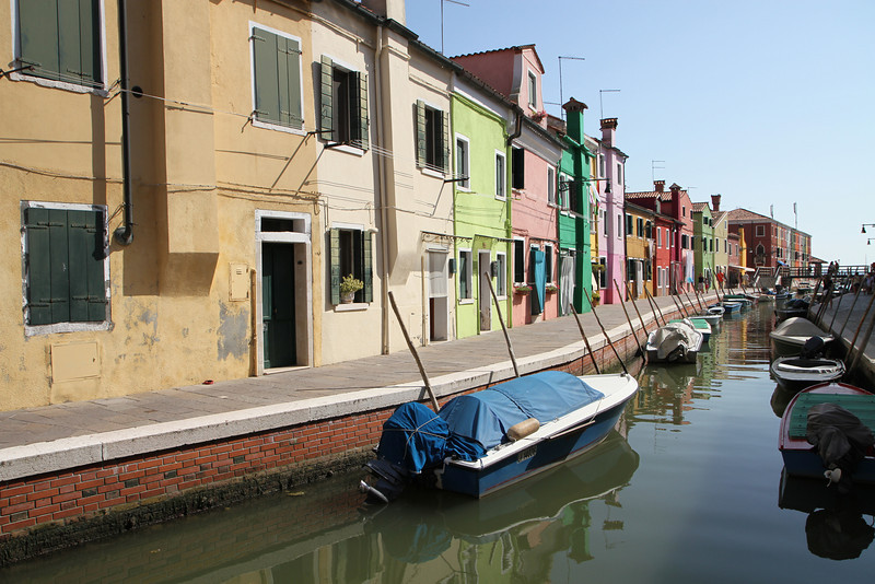 Burano, the island where Venetian lace is made.  Also full of colorful houses!