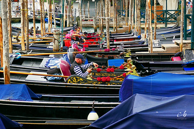 Gondoliers at rest