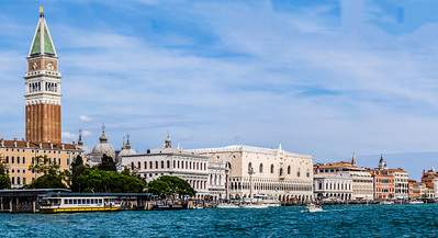 Piazza San Marco and the waterfront from vaporetti